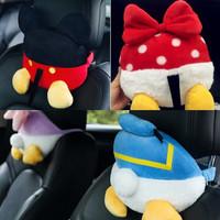 Bantal Kepala Headrest Jok Mobil Motif DISNEY BUTT Mickey Minnie Mouse