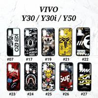 VIVO Y30 / Y30i / Y50  Soft Hard Case MAN GLOSS Casing BAPE Supreme