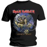 IRON MAIDEN Eddie Chained Legacy Kaos Band Musik Heavy Metal Original - S