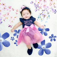 Jumper bayi perempuan MOMMY LITTLE PRINCESS set (free bando + sepatu)