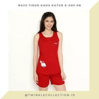 RED SERIES - Baju TIdur Piyama Kaos Katun Lengan Buntung Greet E-005 H