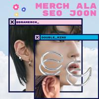 Double Ring earrings Klip Han Seo Joon Korea | hwang in yeop | anting