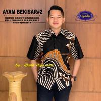 Kemeja Batik Lengan Pendek Terbaru Motif AYAM BEKISAR #2 - Bahan