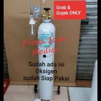 Tabung Oksigen 2 m3 Set 3 in 1 (Tabung, Regulator dan Trolley)