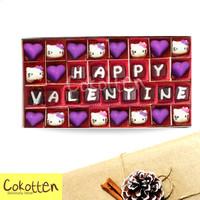 Cokelat Valentine Boks isi 32 Coklat kata ucapan cinta kasih custom