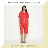 Setelan Piyama Wanita Katun Jepang Celana 3/4 GREET K-035 BD