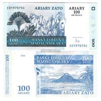 uang madagaskar 100 Ariary