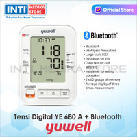YUWELL - Tensimeter Digital Voice Bluetooth Dual-User + Adaptor YE680A