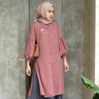 Dianara Long Tunik Atasan Kerja Fashion Muslim Wanita