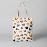 Pamole - Tote Bag Kekinian Bahan Kanvas Motif Kucing