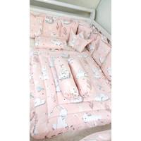 Bumper set bayi size 120x70 rabbit ( bisa custom size )