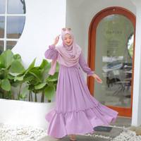 Azura Dress Gamis Muslim Wanita l Dres Polos Lilac Terbaru & Terlaris