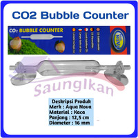 CO2 CO 2 Bubble Counter Kaca Aquascape merk AQUA NOVA