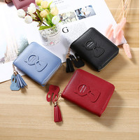 W123 Dompet Mini Wanita Cat Key Women Wallet