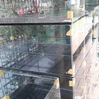custom aquarium 90x35x40 kac full 5 mili+rak +2 lembar triplak