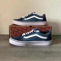 Sepatu Unisex - VANS OLD SKOOL - Blue Navy