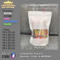 50 PCS Standing Pouch / Kemasan Plastik klip Snack / Zipper Window