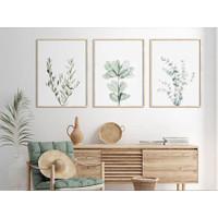 Lukisan Dinding/Art Print - Botanical Foliage - Print Only - 40x60
