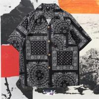 Reign Shirt (Kemeja Casual Retro Vintage Motif Print Bandana)