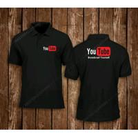 Kaos Polo Baju Kerah Distro YOUTUBE BROADCAST YOU TUBE polos custom