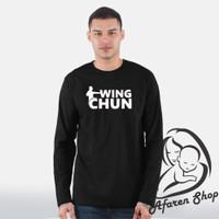 Kaos baju longsleeve sport premium wing chun