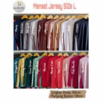 Manset Baju Atasan Bahan Jersey Premium Size L