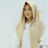 Hijab Laser Cut Voal Miracle Segiempat Umama Logo Rajut -Pink Nude - Tea