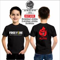 Kaos Baju Anak Game FREE FIRE AURA E SPORT Team Kaos Gamer - Gilan - XS