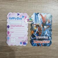 Kartu undangan ulang tahun spiderman / civil war