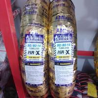 ban mizzle MR X ring 14 90/80 set depan belakang soft compound tubeles