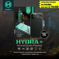 HYDRA+ Extra Back Cover Semua Tipe Anti Gores Hydrogel -Tempered Glass