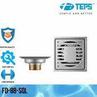 TEPS FD-088-SQL Floor Drain stainer Saringan Got Kamar Mandi Anti Bau