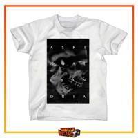 Tshirt Musik Band ASKING ALEXANDRIA White Metalcore Blackened Skull - M
