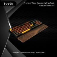 Ibacks Premium Wood Wrist Rest For Ergonomic Type Keyboard - Medium