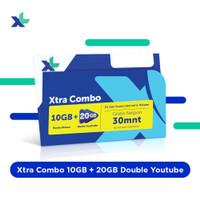 Kartu Perdana & Paket Xtra Combo 10GB+20GB Double Youtube