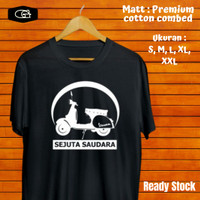 T Shirt Distro Kaos Custom Polos Pria Kaos Keren Hitam Vespa Surabaya - Putih, S