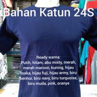 Kaos Oblong Biru Navy Polos T-Shirt Bahan Katun 24S Tangan Pendek