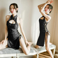 LI-97 black cheongsam baju cina lingerie baju tidur seksi cosplay