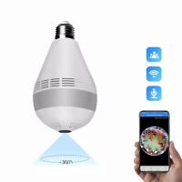 Ip Camera Cctv Spy Cam Lampu Bulb Wireless Full HD Panoramic