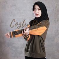Hijab Sport Pet - Bahan Jersey Premium - Hitam
