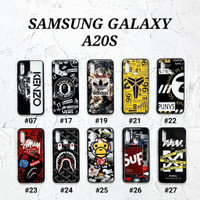 SAMSUNG GALAXY A20S  Soft Hard Case MAN GLOSS Casing BAPE Supreme