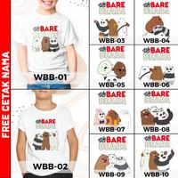 [ FREE NAMA ] Baju Kaos custom WE BARE BEARS ANAK DAN DEWASA couple