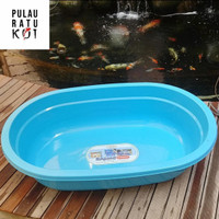 fishpond bak fiber plastik biru kuat berkualitas untuk ikan