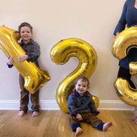 Balon foil angka jumbo 1 meter