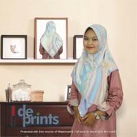 Hijab voal / Kerudung gambar / jilbab motif segi empat – Purple - MMR-Purple 1