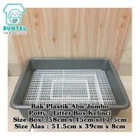 Bak Plastik Jumbo / Litter Box / Potty Toilet dgn Alas Handmade