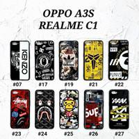 OPPO A3S / REALME C1  Soft Hard Case MAN GLOSS Casing BAPE