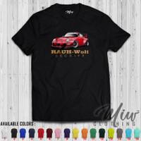Kaos/Baju/Tshirt Rauh Welt Begriff Porsche Red
