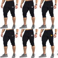 Jogger 3/4 Pria Celana Olahraga sweatpants pria Fitness Gym Casual