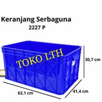 CONTAINER BOX INDUSTRI SERBAGUNA 2227P GREEN LEAF / KOTAK BAK WADAH